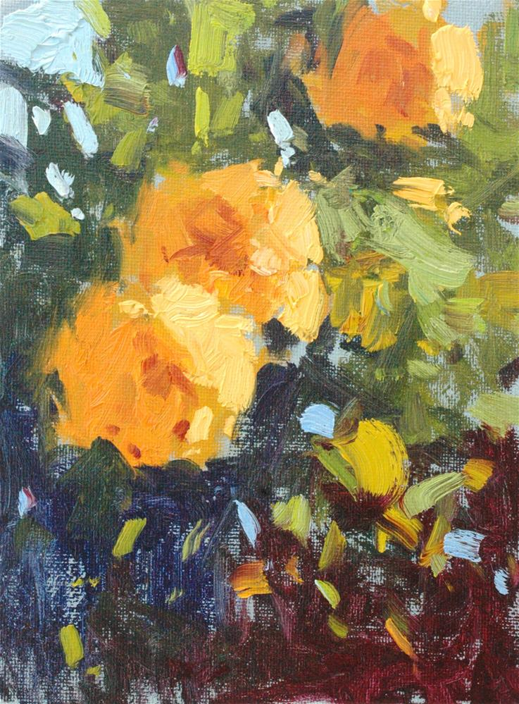 """Study in Yellow and Green"" original fine art by Michael Clark"