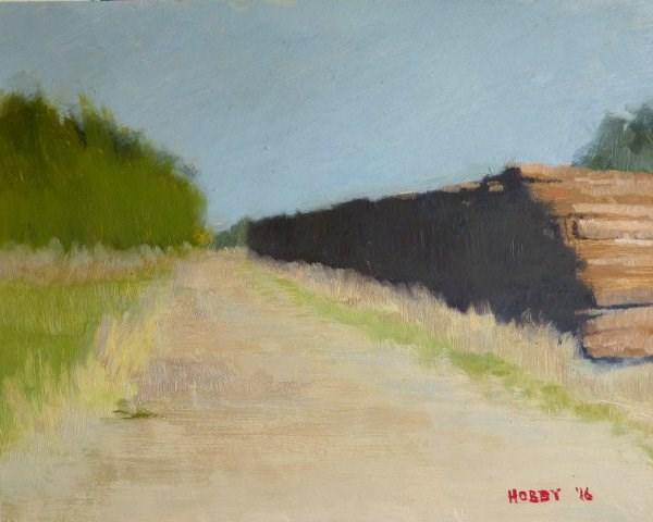 """Railroad Ties"" original fine art by Weston Hobdy"