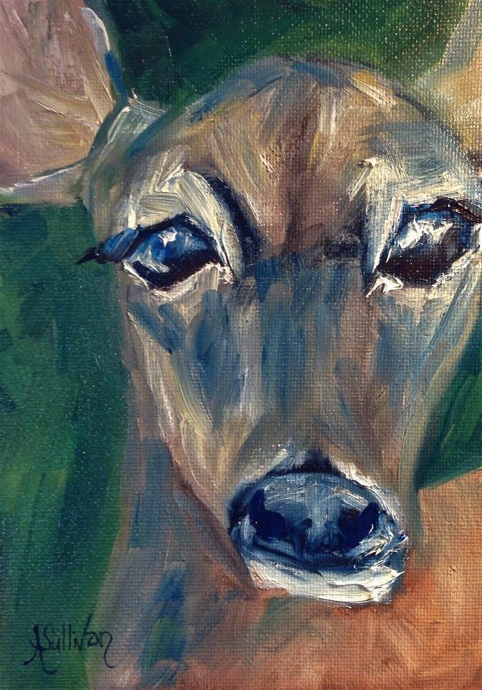 """Oh My Deer animal painting by Alabama Artist Angela Sullivan"" original fine art by Angela Sullivan"