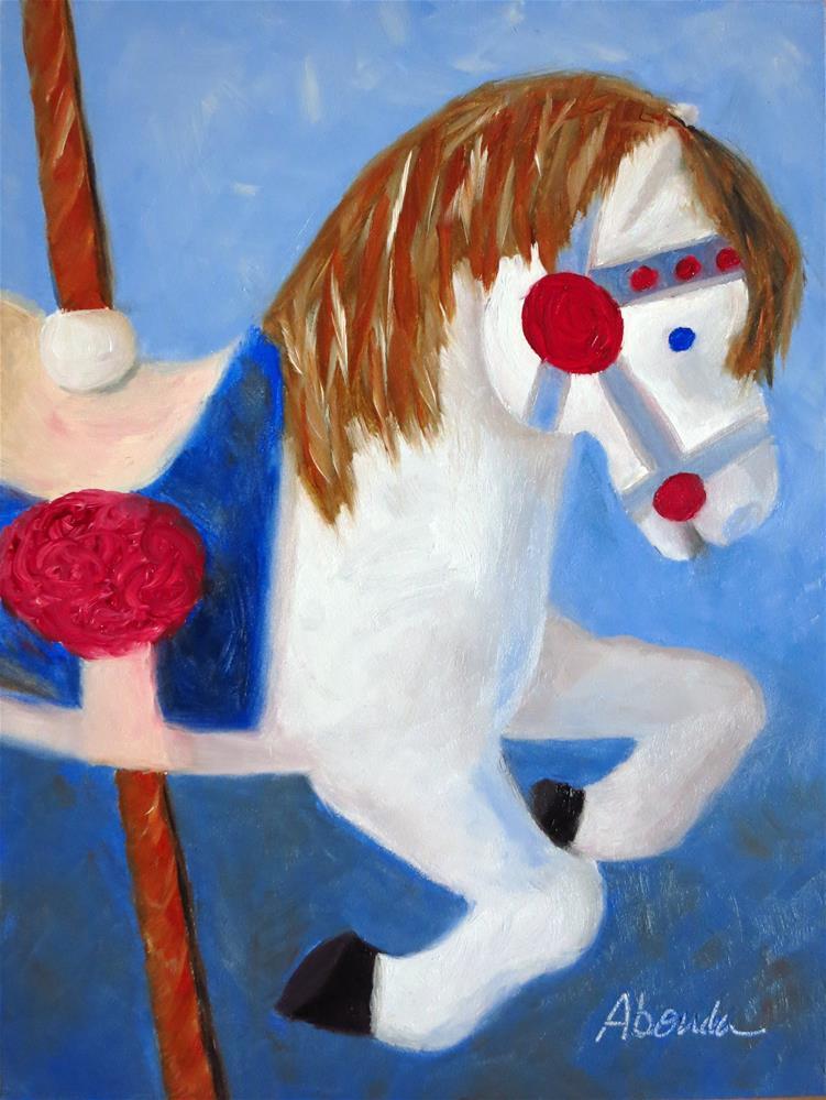 """Carousel Horse"" original fine art by Sandy Abouda"
