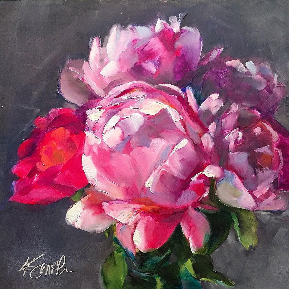 """sweet peonies"" original fine art by Kim Smith"