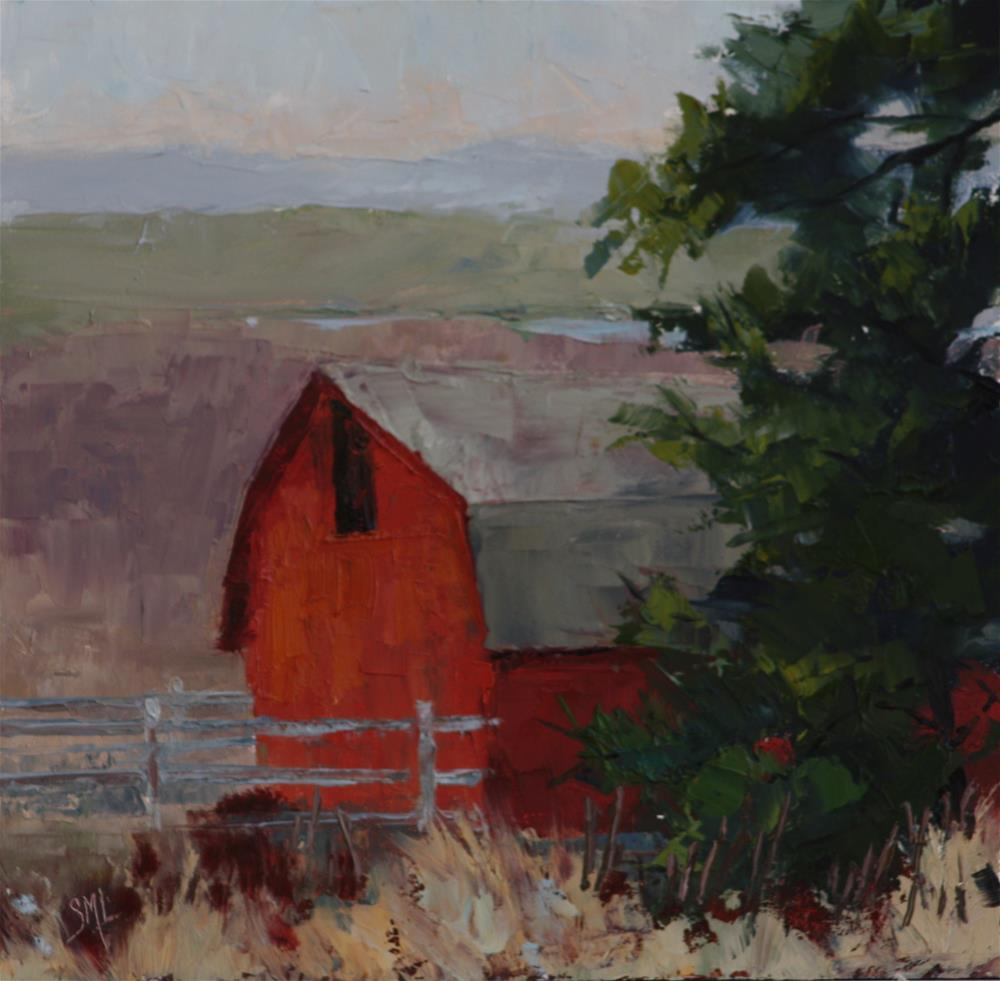 """Side of the Barn"" original fine art by Sheila Marie"