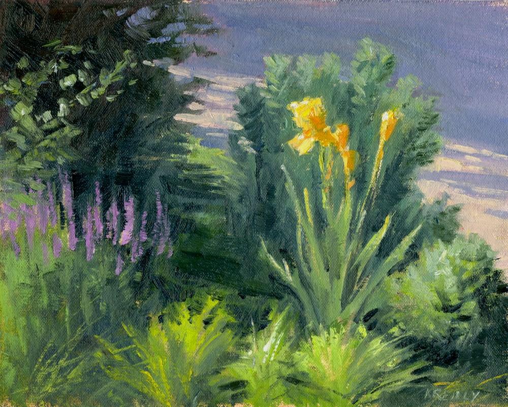 """Gold Iris"" original fine art by Kath Reilly"