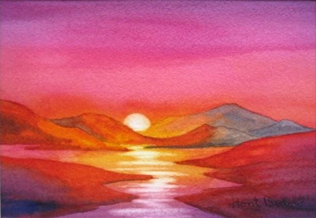 """""""Sunset"""" original fine art by Horst Berlow"""