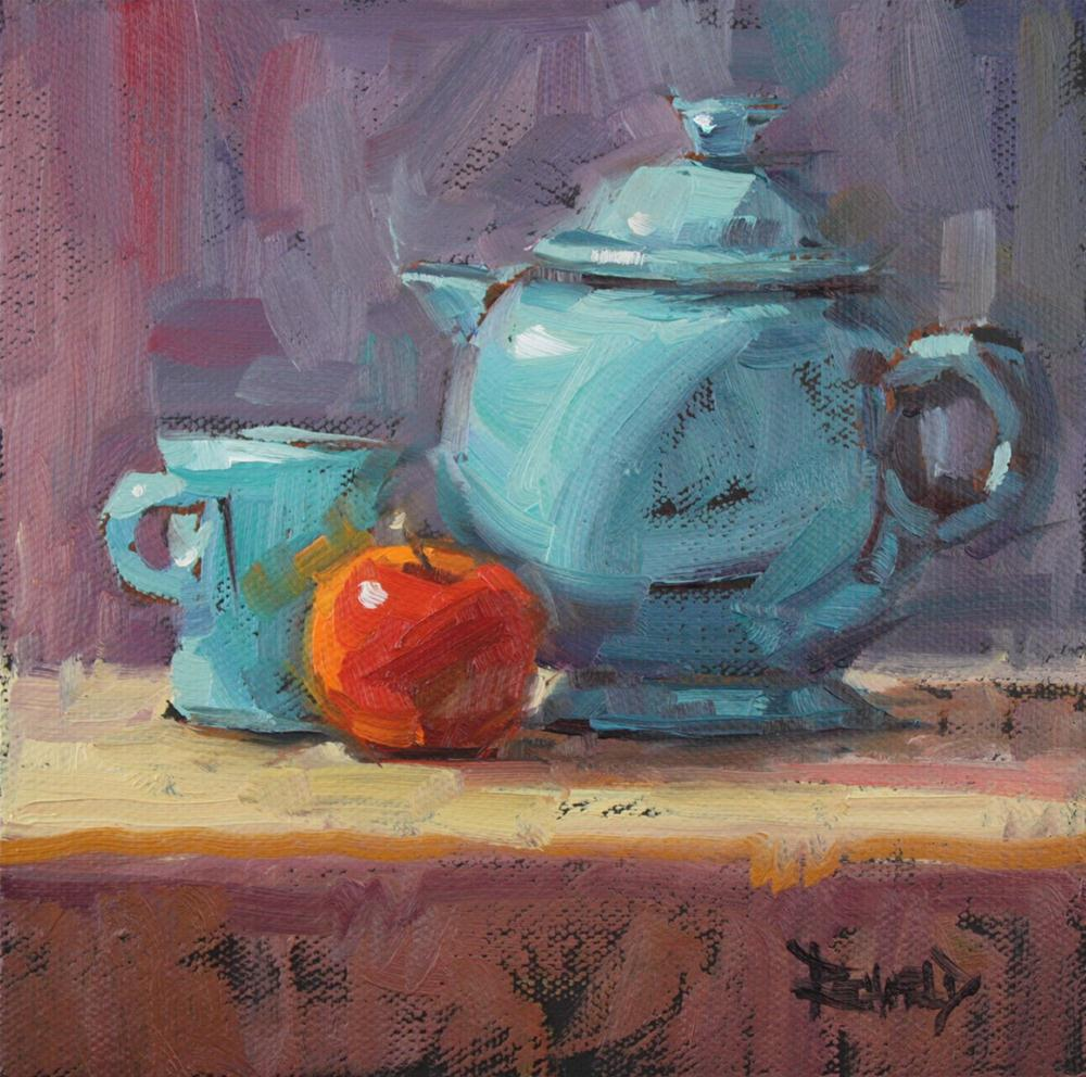 """Fiesta Tea"" original fine art by Cathleen Rehfeld"