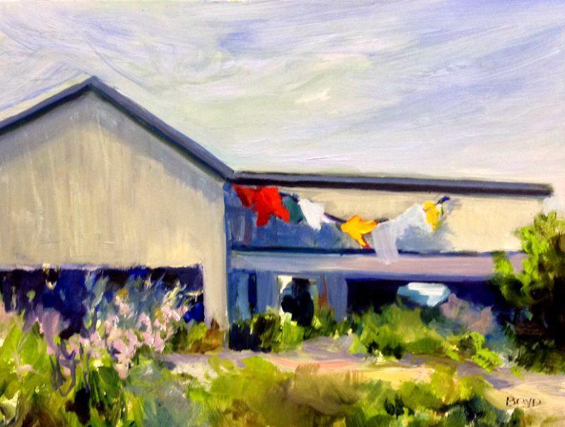 """""""Wash and Wear"""" original fine art by Cathy Boyd"""