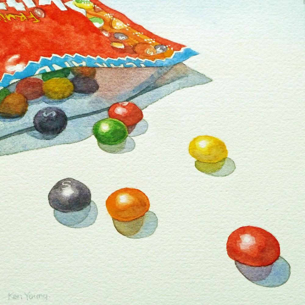"""""""Skittles"""" original fine art by Ken Young"""