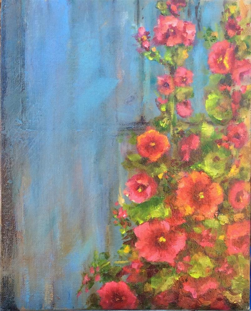 """Up against the wall"" original fine art by Susie Monzingo"