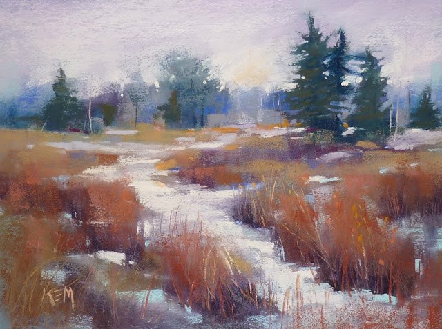 """Be Open to Inspiration for a Painting... pastel demo"" original fine art by Karen Margulis"