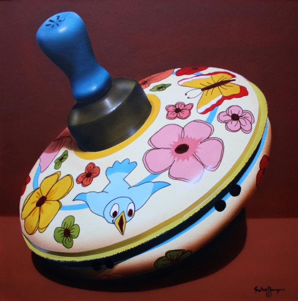 """Springtime Top"" original fine art by Fred Schollmeyer"
