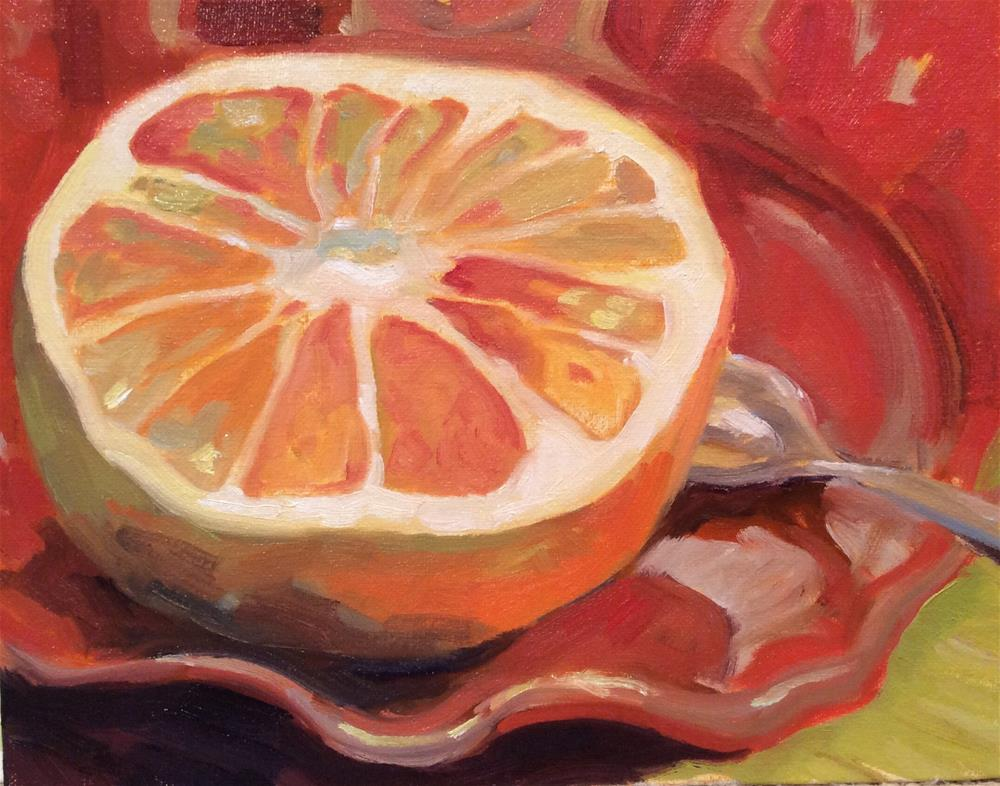 """Juicy Grapefruit"" original fine art by Leigh Alexandra Sparks"