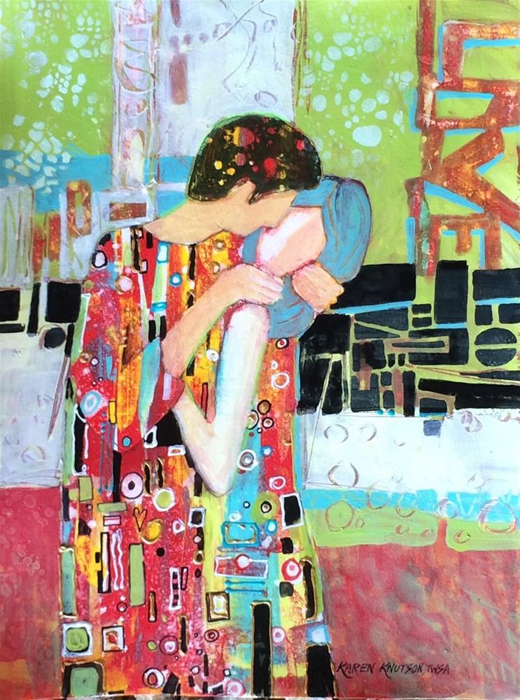"""Tribute of Gustav Klimt"" original fine art by Karen Knutson"