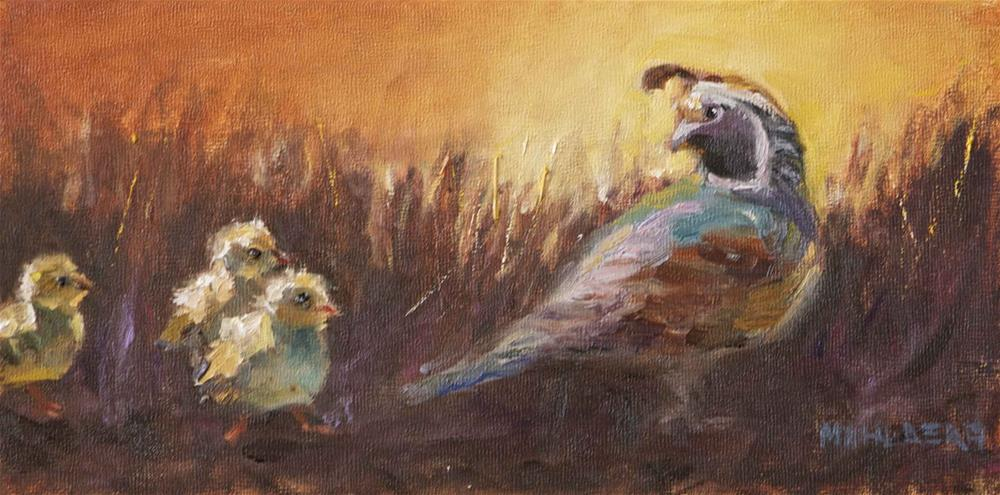 """Not Another Peep Out of You    For Father's Day"" original fine art by Cynthia Mahlberg"