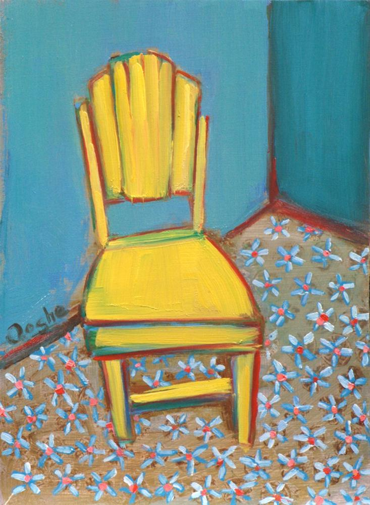 """Yellow Chair"" original fine art by Angela Ooghe"