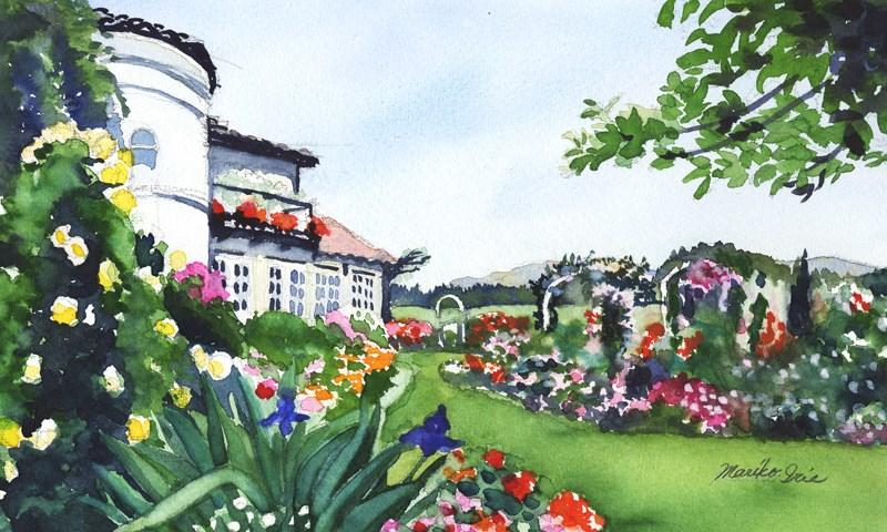 """Rose Garden"" original fine art by Mariko Irie"