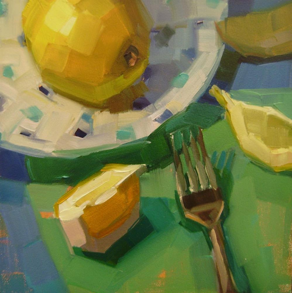 """Fork and Lemons"" original fine art by Holly Storlie"
