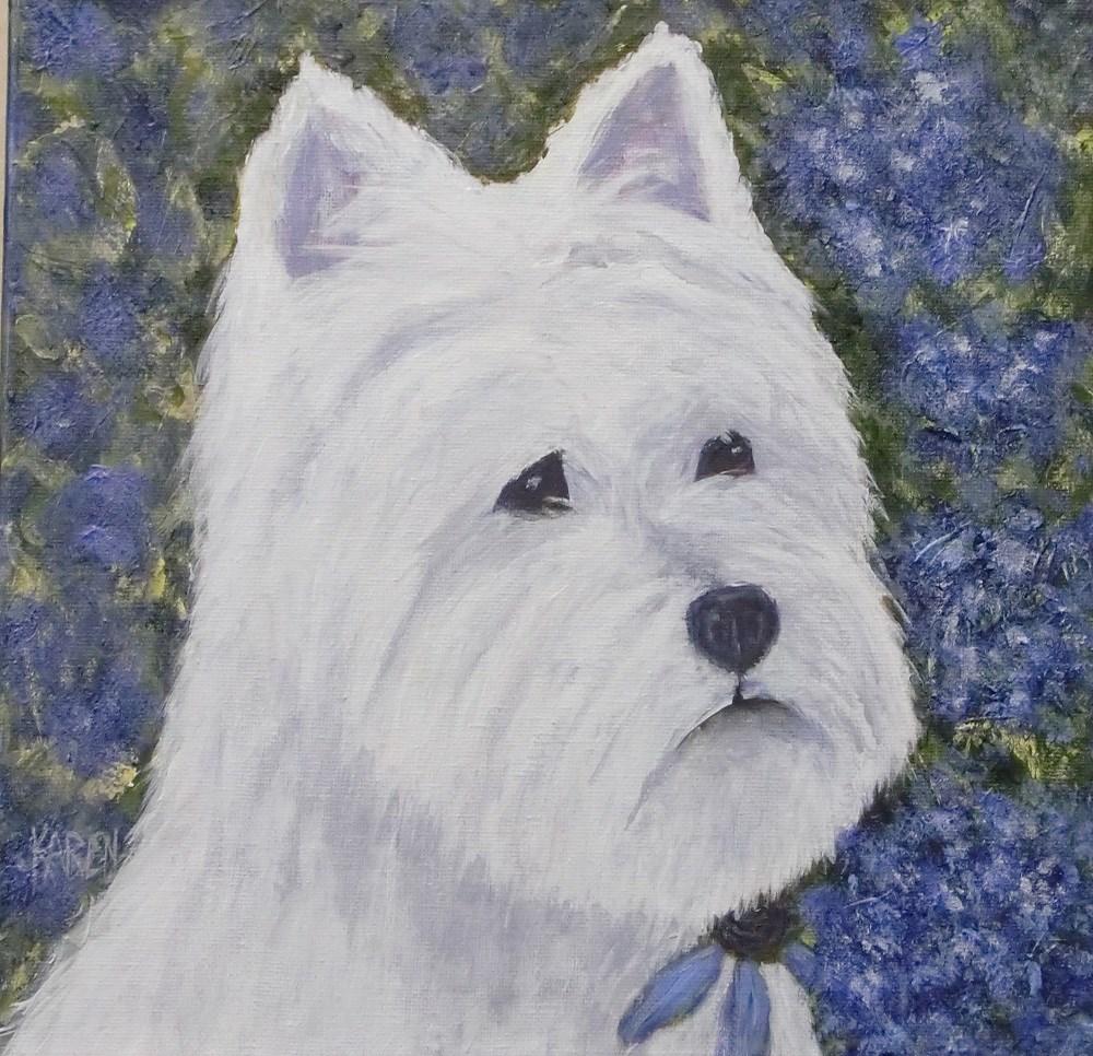 """""""Scottie"""" original fine art by karen richardson"""