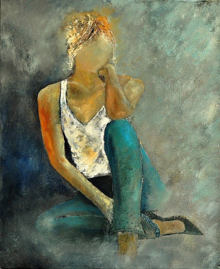 """Young girl 562190"" original fine art by Pol Ledent"