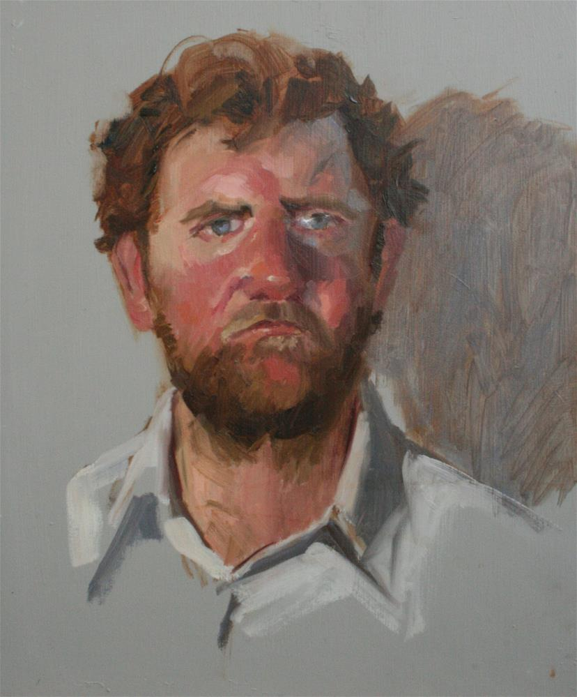 """Oil sketch of Tom"" original fine art by Liz Balkwill"