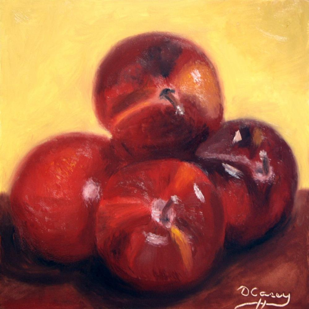 """140831 - Kitchen Painting - Plums 002a"" original fine art by Dave Casey"