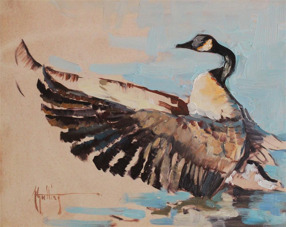 """Canada Goose Study #1"" original fine art by Abigail Gutting"