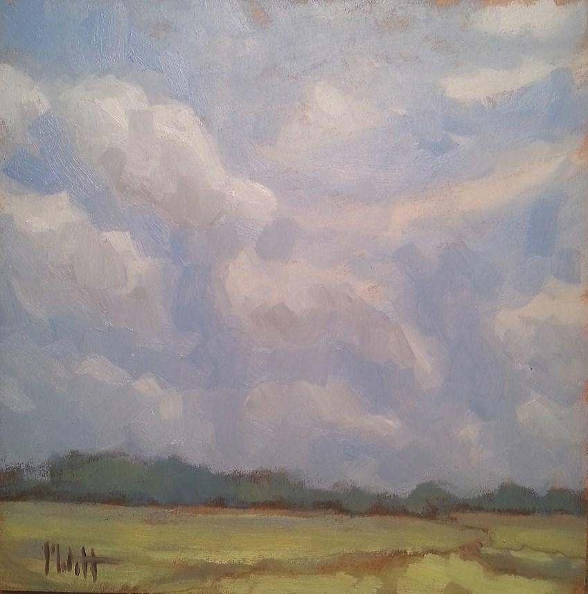 """Serene Summer Day Landscape Original Art"" original fine art by Heidi Malott"