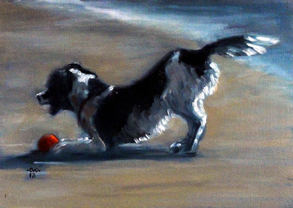 """Play Ball"" original fine art by Cietha Wilson"