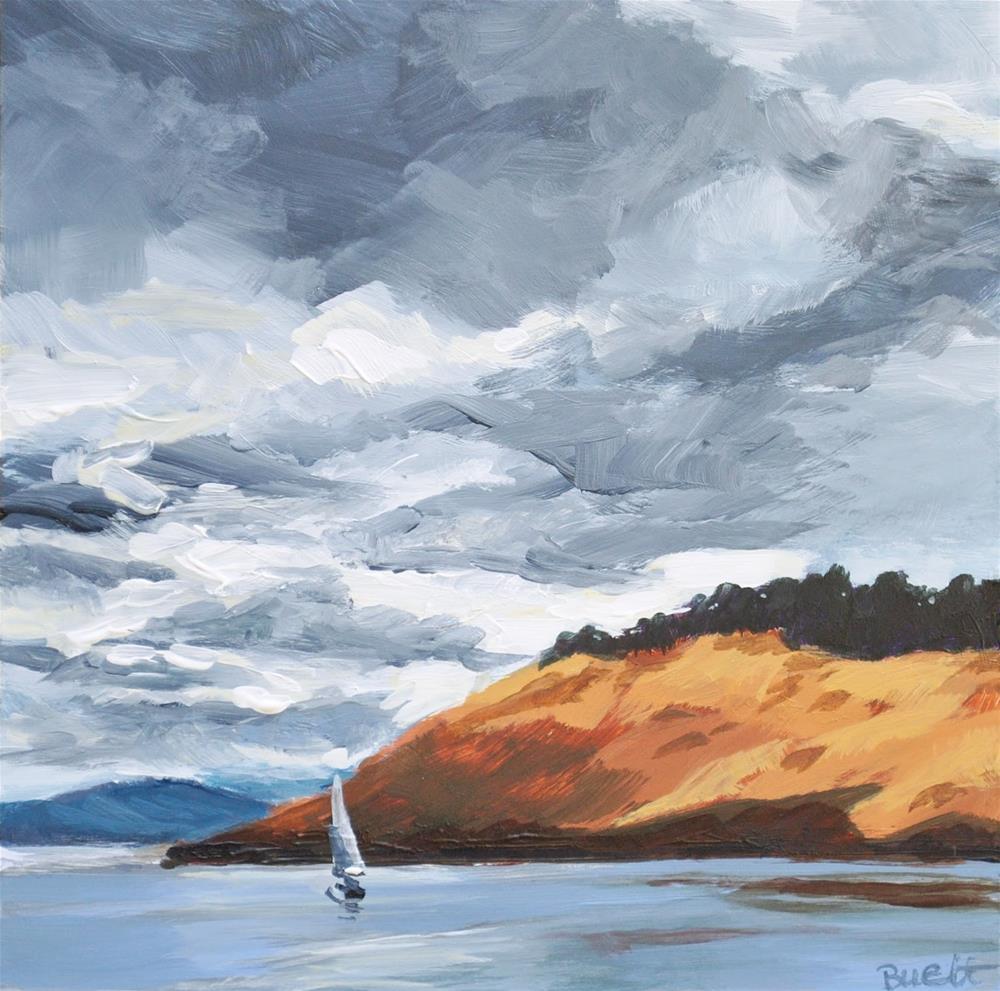 """""""Sailing Toward Sunshine"""" original fine art by Shari Buelt"""