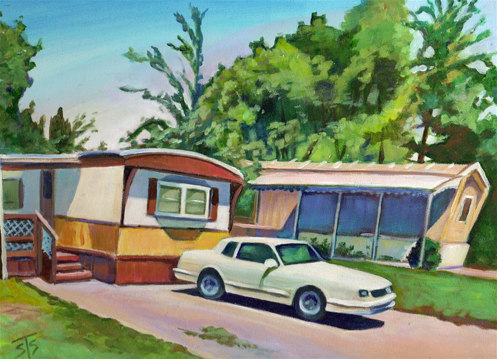 """Sunny Day at the Trailer Park"" original fine art by Susan Suraci"