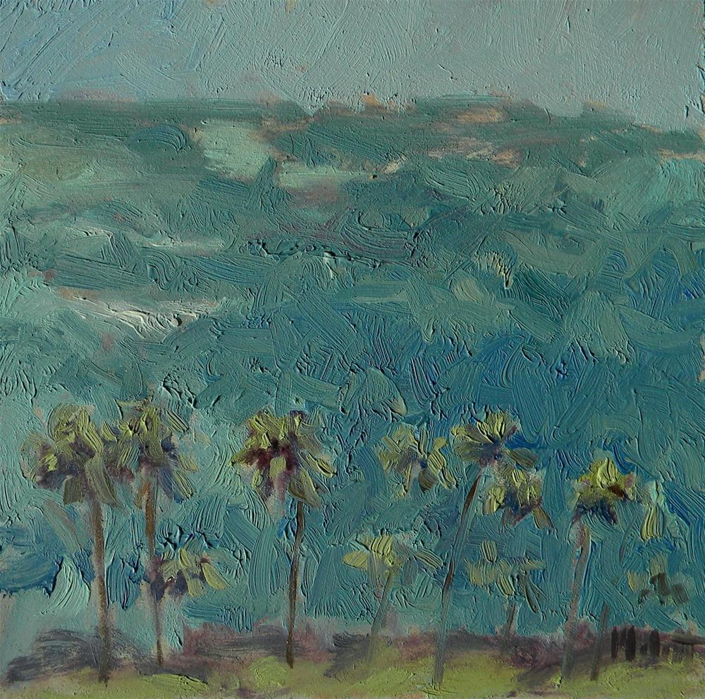 """View from Diamond Head Hawaii Oil Painting Contemporary Impressionism"" original fine art by Heidi Malott"