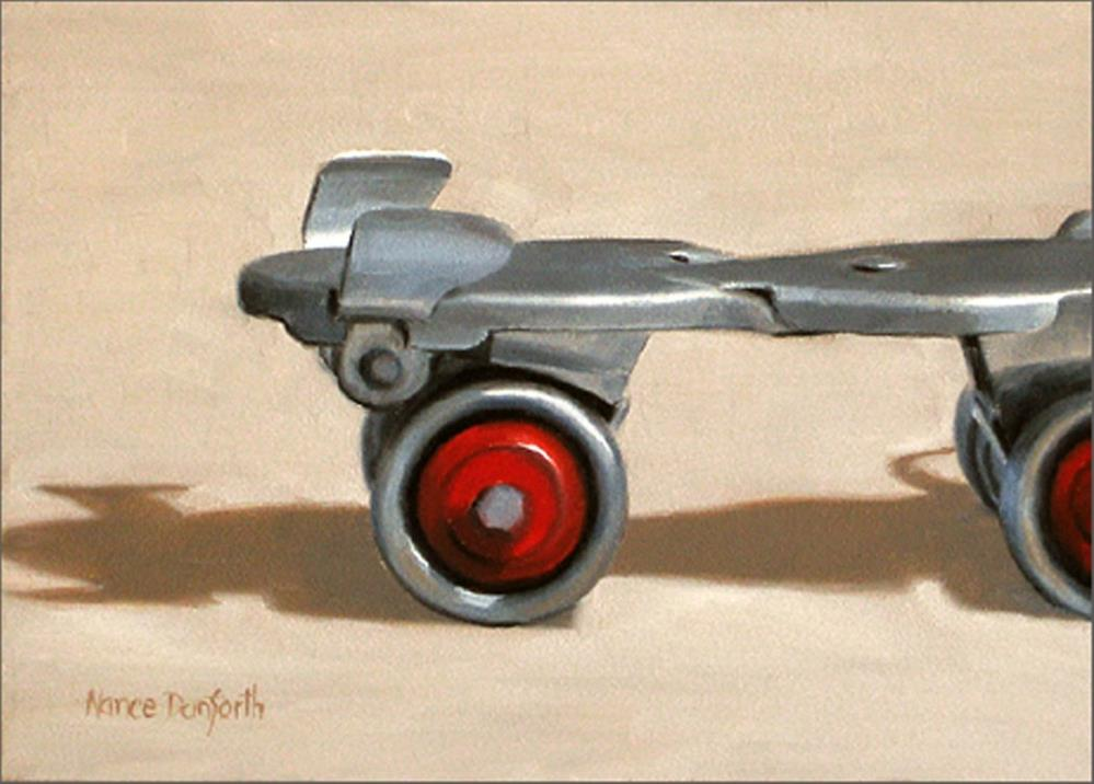 """Roller Skates"" original fine art by Nance Danforth"