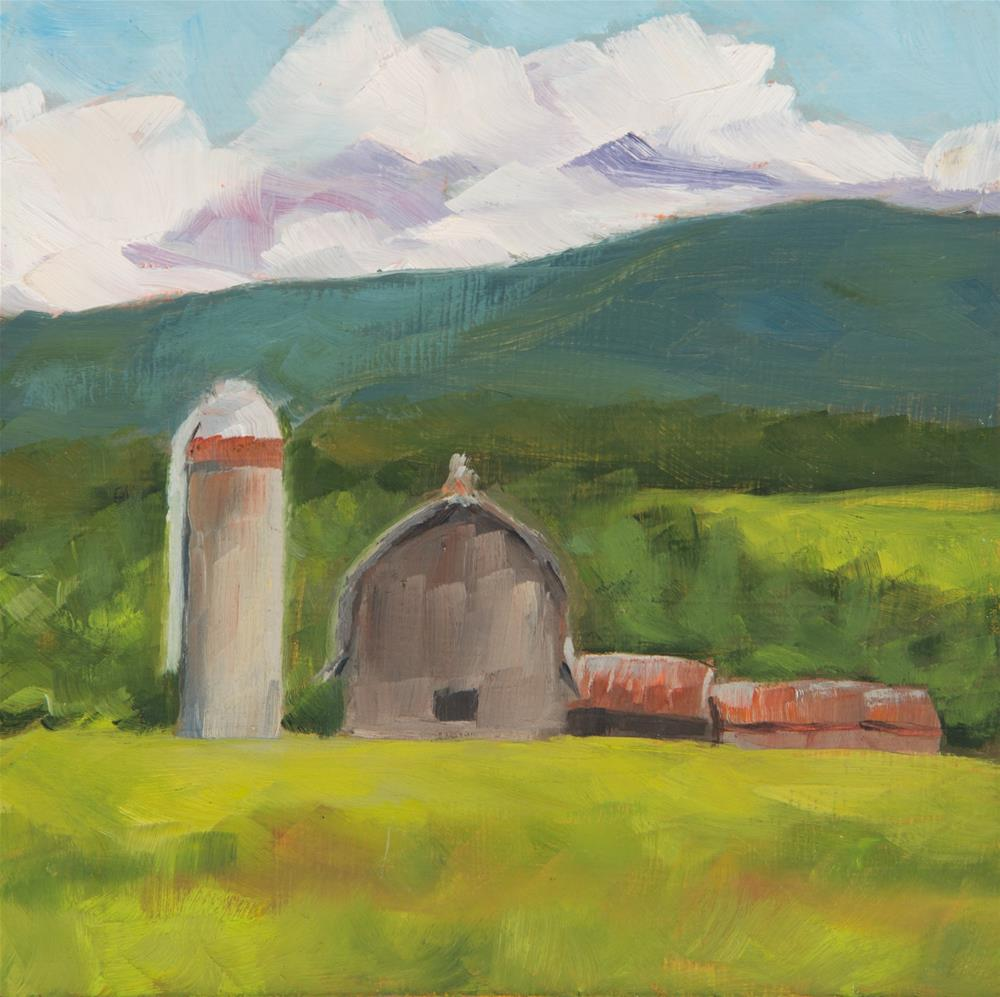 """""""Barn - Morrisville, Vermont"""" original fine art by Sara Gray"""
