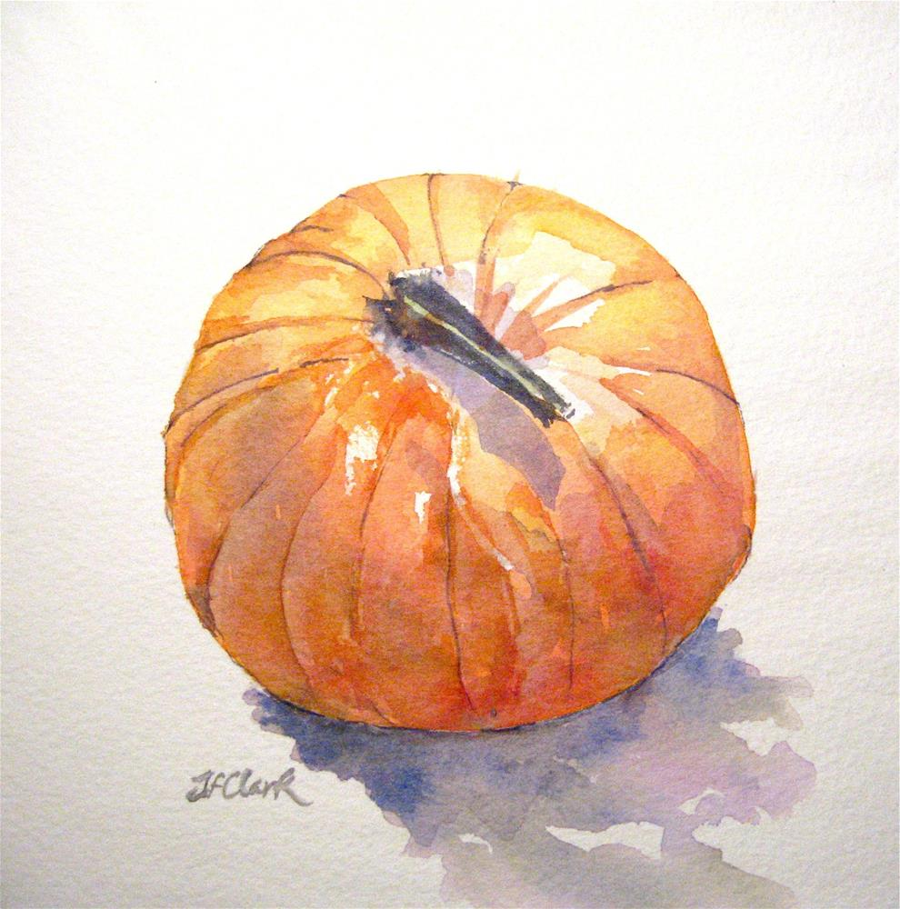 """Pumpkin, study"" original fine art by Judith Freeman Clark"