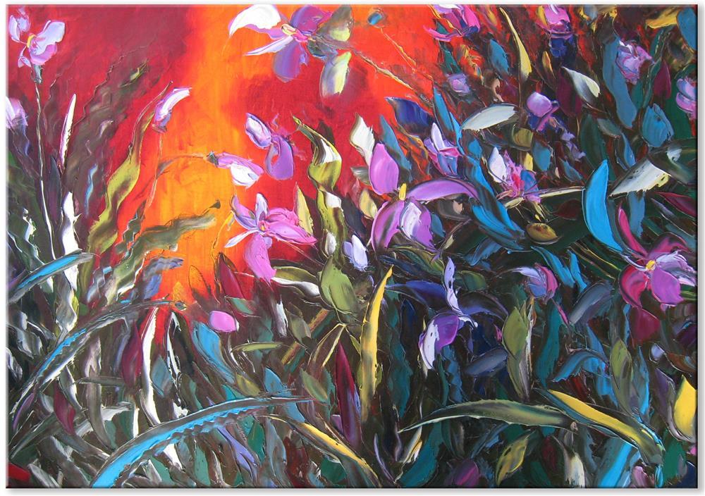"""Wild orchids"" original fine art by Elena Lunetskaya"