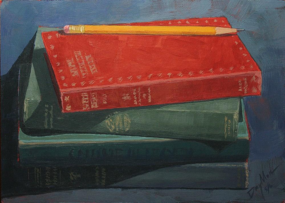 """Gentle Books"" original fine art by Mike Daymon"
