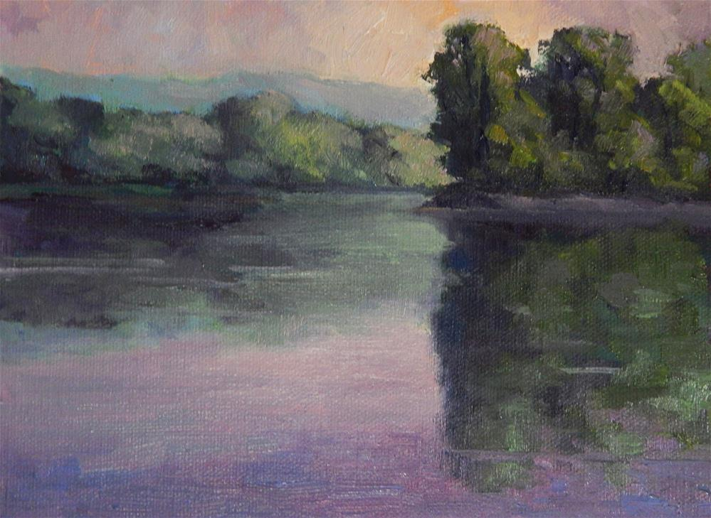 """Early Morning on the River"" original fine art by Lisa Kyle"