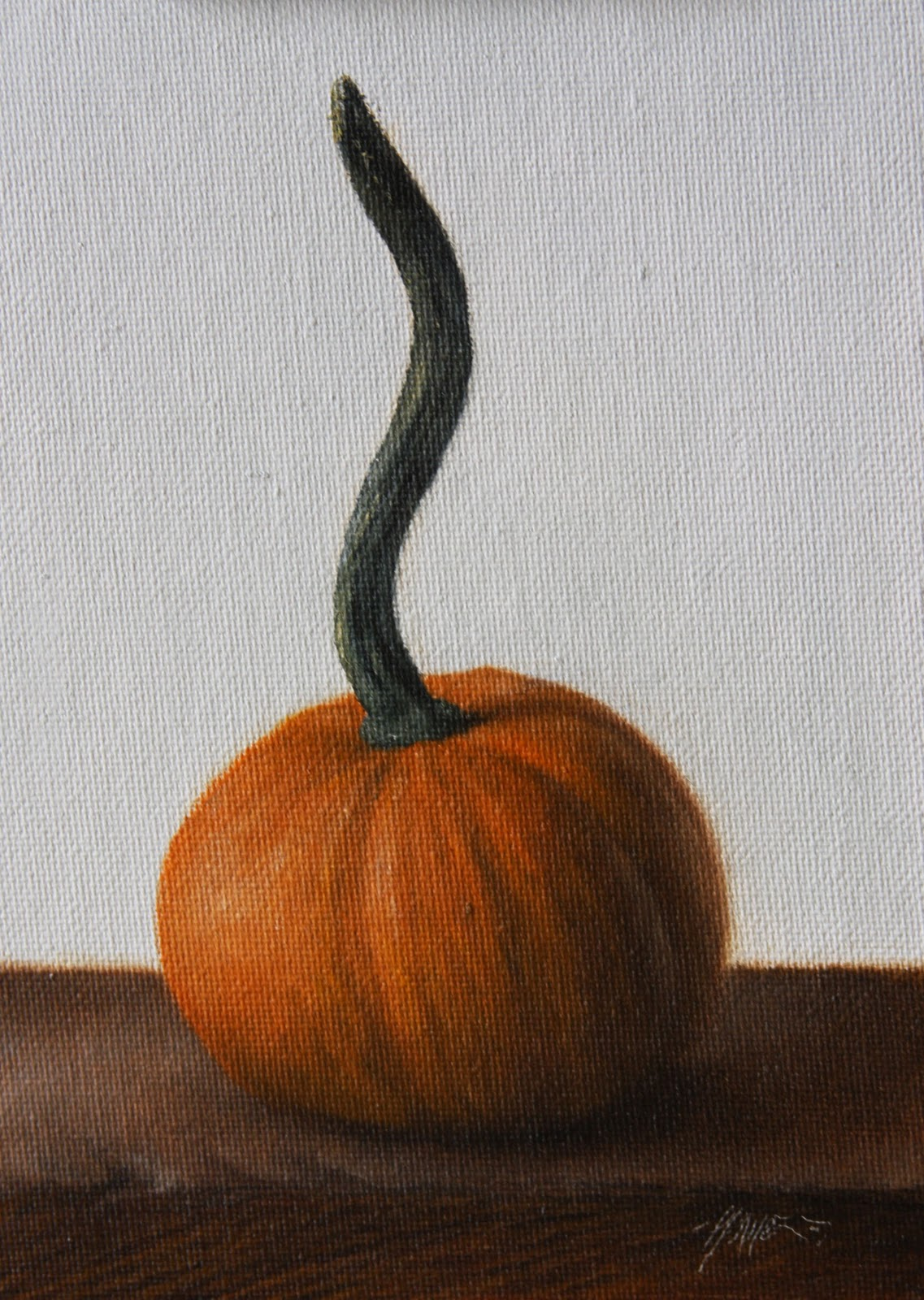 """Pumpkin Stem"" original fine art by Jonathan Aller"