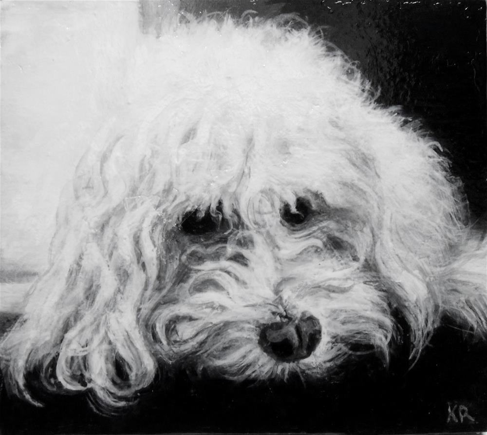 """Goldie"" original fine art by Karen Roncari"