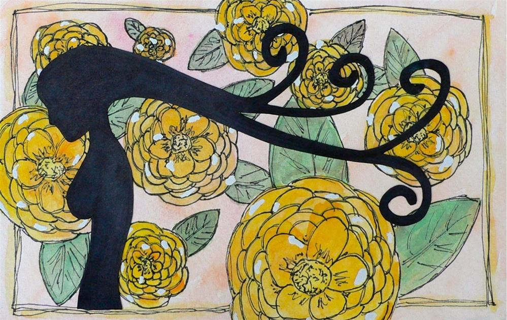 """Feminine Silhouette"" original fine art by Kali Parsons"