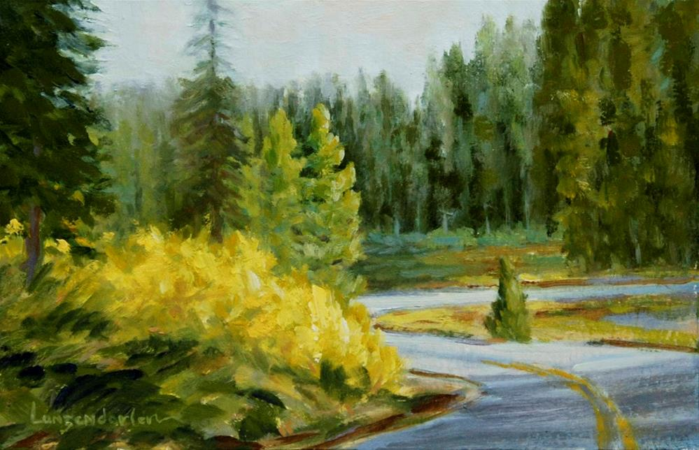 """AROUND THE BEND"" original fine art by Dj Lanzendorfer"