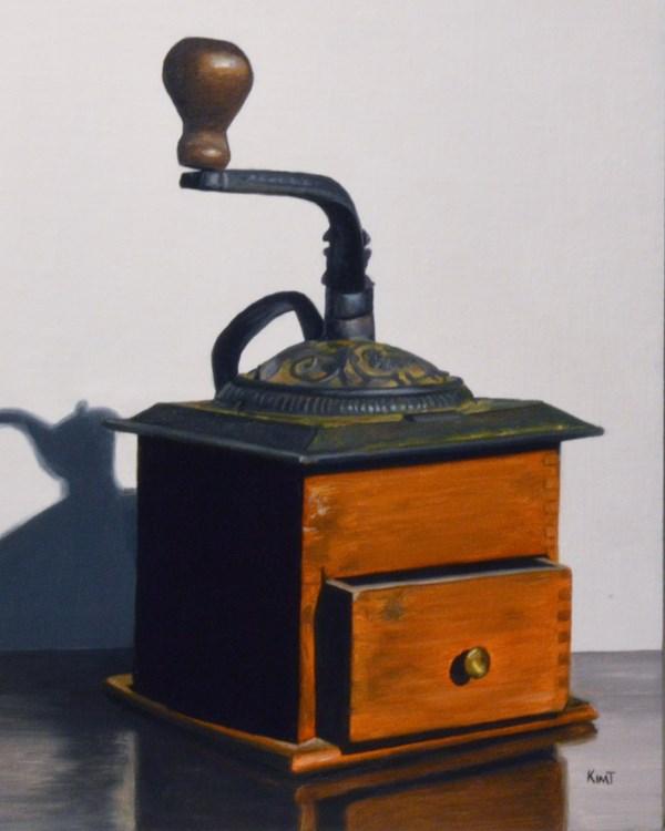 """Vintage Coffee Bean Grinder"" original fine art by Kim Testone"
