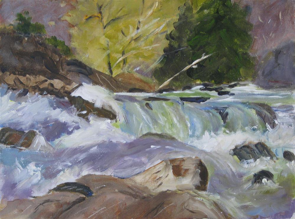 """Rushing Water"" original fine art by Carol Cochran"