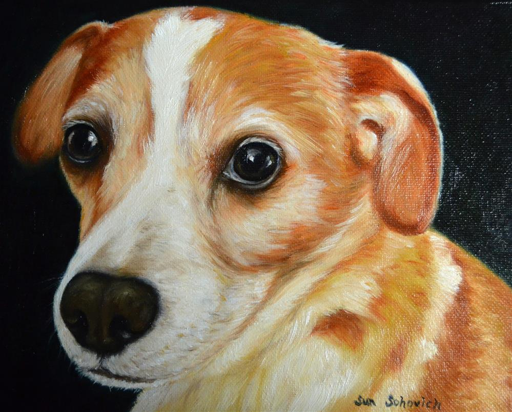"""pet art, Rat Terrier ,Beagle, "" original fine art by Sun Sohovich"