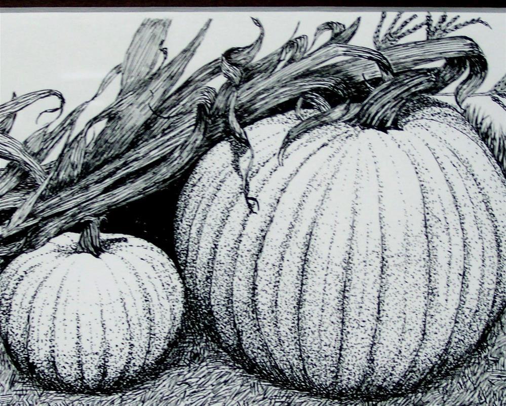 """Harvest Time"" original fine art by Elaine Shortall"
