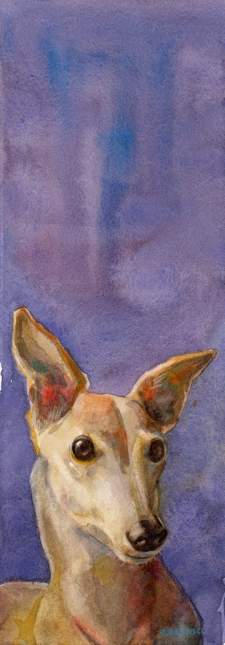 """Watercolor: Was that a Leash Jingle?"" original fine art by Belinda Del Pesco"