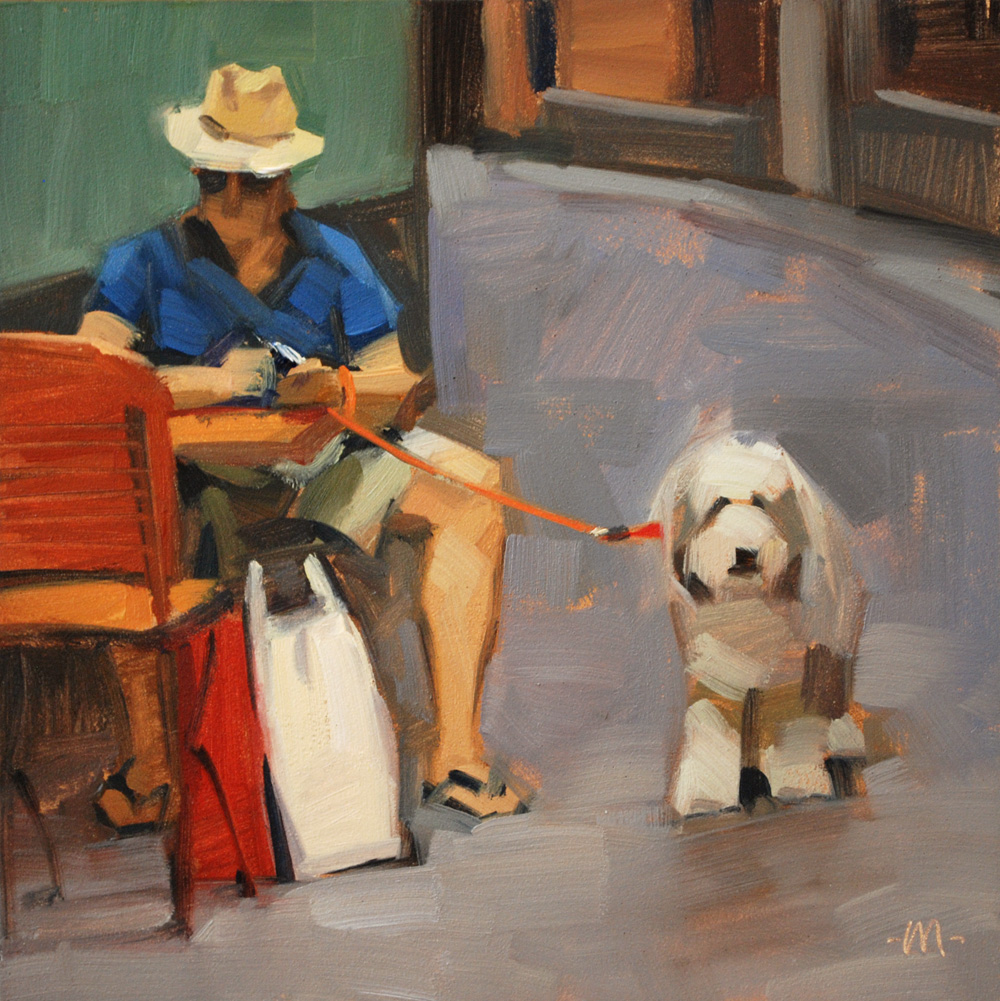 """Out For a Sit"" original fine art by Carol Marine"