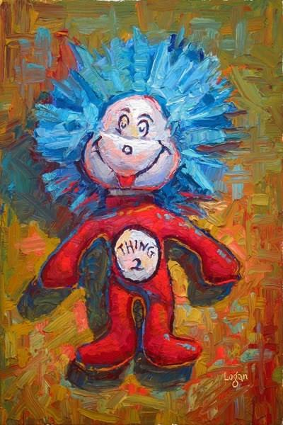 """Thing Two"" original fine art by Raymond Logan"