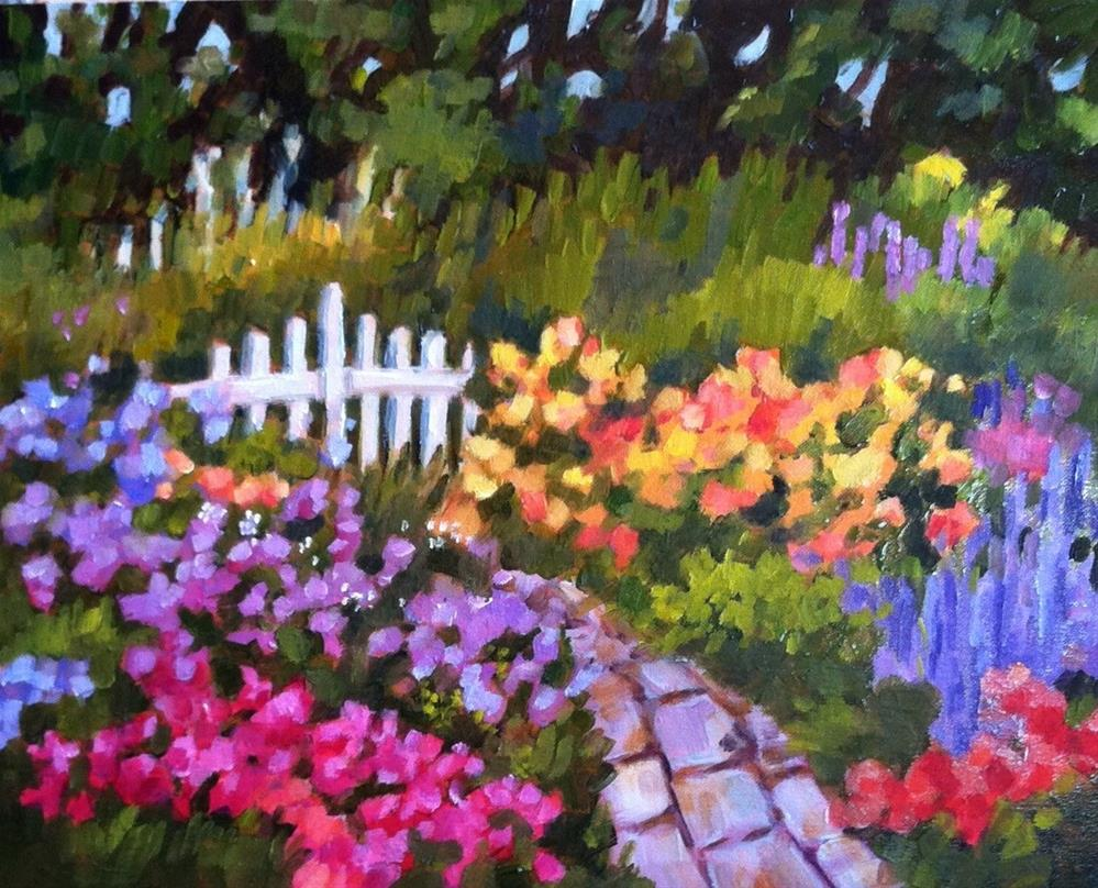 """Back of the Garden"" original fine art by Libby Anderson"