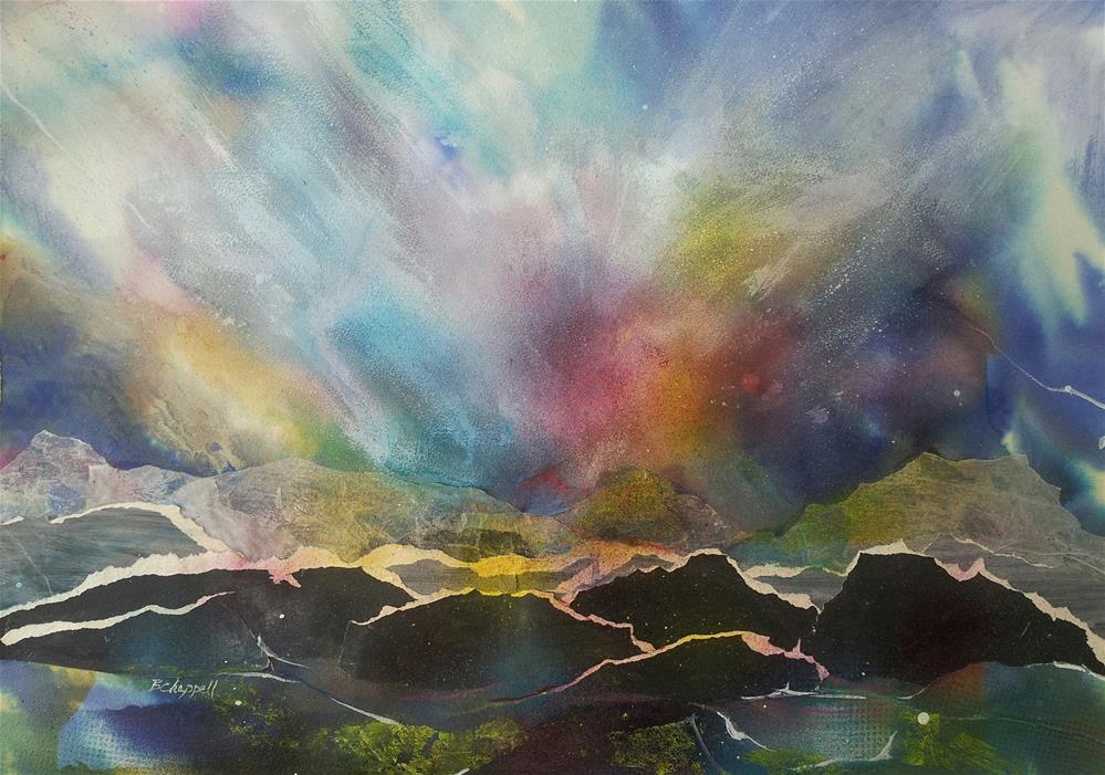 """Northern Lights"" original fine art by Becky Chappell"