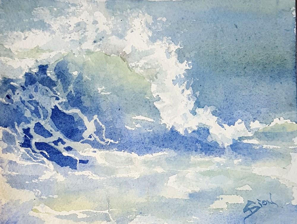 """""""Splash 3"""" original fine art by Sue Dion"""